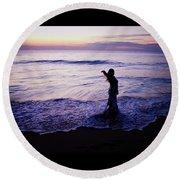 Ocean Mermaid Round Beach Towel