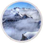 Ocean Of Clouds Round Beach Towel