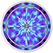 Ocean Of Color Round Beach Towel by Derek Gedney