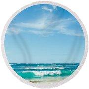 Ocean Of Joy Round Beach Towel