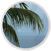 Ocean Palm Round Beach Towel