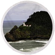 Ocean Photography Round Beach Towel