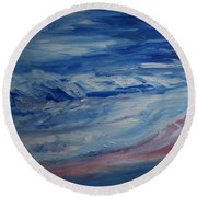Ocean Shoreline Round Beach Towel