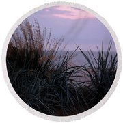 Ocean Side  Round Beach Towel