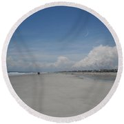 Ocean Stroll Round Beach Towel
