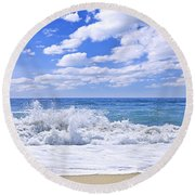 Ocean Surf Round Beach Towel