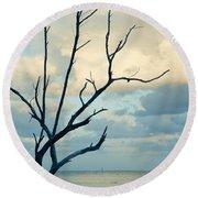 Ocean Tree Round Beach Towel