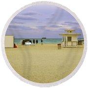 Ocean View 3 - Miami Beach - Florida Round Beach Towel