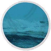 Ocean Waves Incoming Round Beach Towel