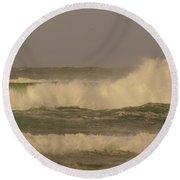 Ocean Waves Round Beach Towel