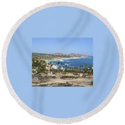 Oceanfront Relaxation Round Beach Towel