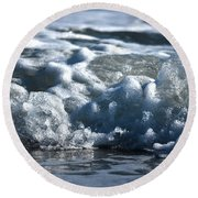 Ocean's Beauty Abstract Round Beach Towel