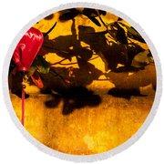 Ochre Wall Silk Lantern 02 Round Beach Towel