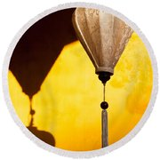 Ochre Wall Silk Lanterns  Round Beach Towel