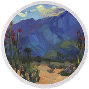 Ocotillos At Smoke Tree Ranch Round Beach Towel