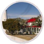 Ocracoke Island Lighthouse Img 3529 Round Beach Towel