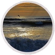Ocracoke Morning Round Beach Towel