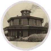 Octagon House  17739b Round Beach Towel