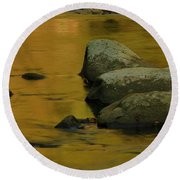October Colors In Tennessee Round Beach Towel