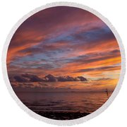 October Colors Round Beach Towel