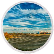 October Patterns Round Beach Towel