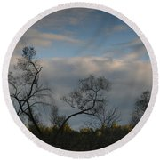 October River Reflections Round Beach Towel