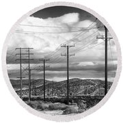 October Road Palm Springs Round Beach Towel