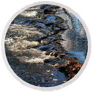 October Shimmers Round Beach Towel