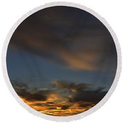 October Sunset Round Beach Towel
