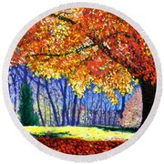 October Surprise Round Beach Towel