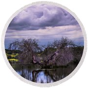 Odd Symmetry Round Beach Towel