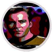 Ode To Star Trek Round Beach Towel by John Malone