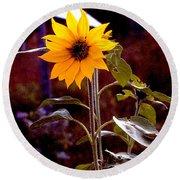 Ode To Sunflowers Round Beach Towel