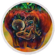 Of Knowledge Round Beach Towel by Kd Neeley