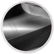 Of Light And Shadow Round Beach Towel by Bob Christopher