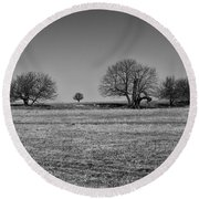 Off In The Distance Round Beach Towel