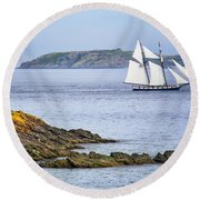 Off Saint-malo Round Beach Towel