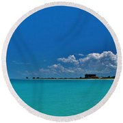 Off The Grid Round Beach Towel