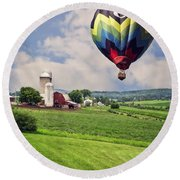 Off To The Land Of Oz Round Beach Towel