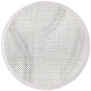 Off White Textile Round Beach Towel by Tom Gowanlock