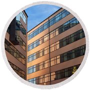 Office Building Malmo Round Beach Towel