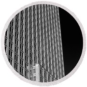 Office Tower  Montreal, Quebec, Canada Round Beach Towel