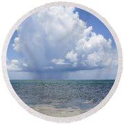 Offshore Storm Round Beach Towel