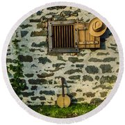 Oh Brother Where Art Thou Round Beach Towel
