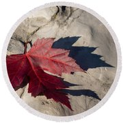 Oh Canada Maple Leaf Round Beach Towel