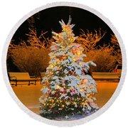 Oh Christmas Tree Round Beach Towel