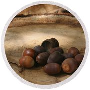 Oh Nuts Round Beach Towel