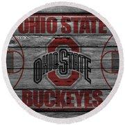 Ohio State Buckeyes Round Beach Towel