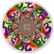 Ohm Round Beach Towel