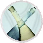 Oil And Vinegar Abstract Round Beach Towel